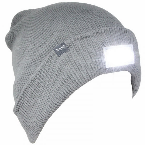 5 LED Light Warm Shining Cap Maintenance Climbing Night Walk Fishing Winter Hat - Gray