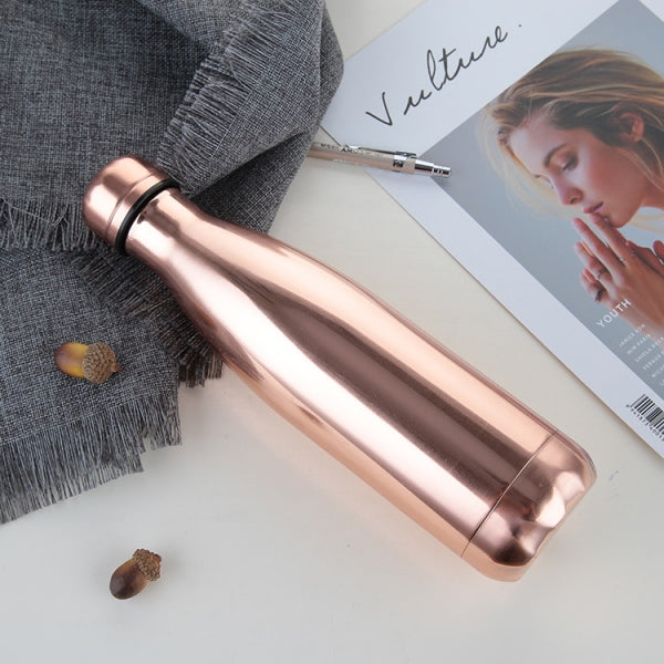 500ml Insulation Water Bottle Outdoor Flask-Electroplate Rose Gold