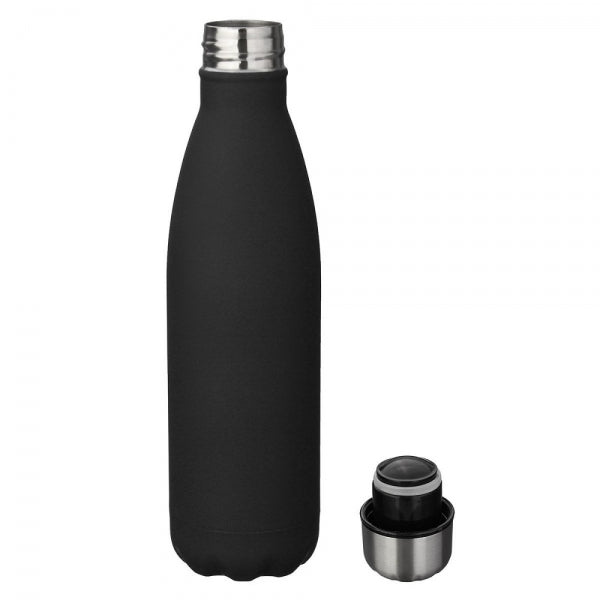 500ml Insulation Water Bottle Thermos Flask - Solid Color Matte Black