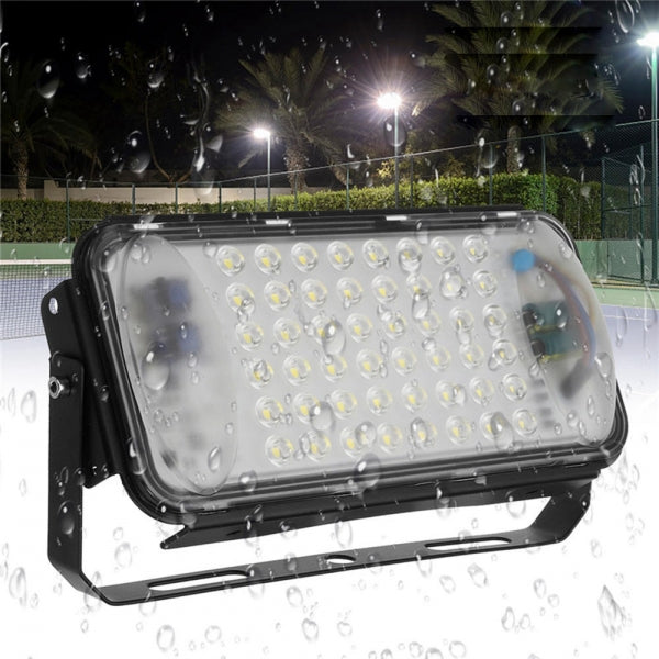 50W 48 LED Flood Spot Light Waterproof Outdoor Garden Security Landscape Light AC90-260V - Black Shell White Light