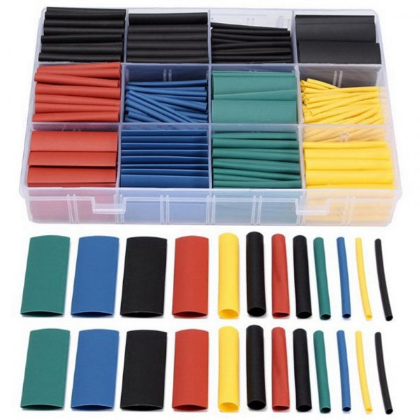 530pcs 21 Polyolefin Halogen-Free Heat Shrink Tube Sleeving Set