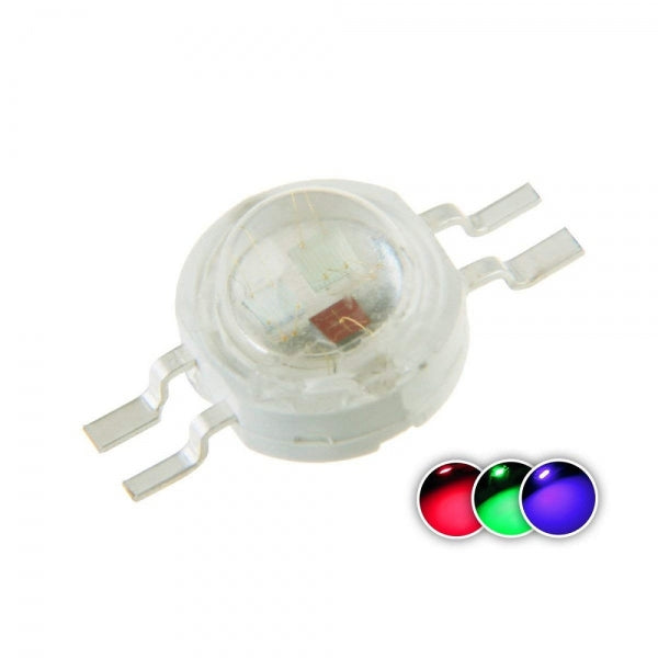 5Pcs High Power LED Chip 1W RGB 4 Pin Multicolor Super Bright Intensity SMD COB Light Emitter Component Diode DIY Lighting