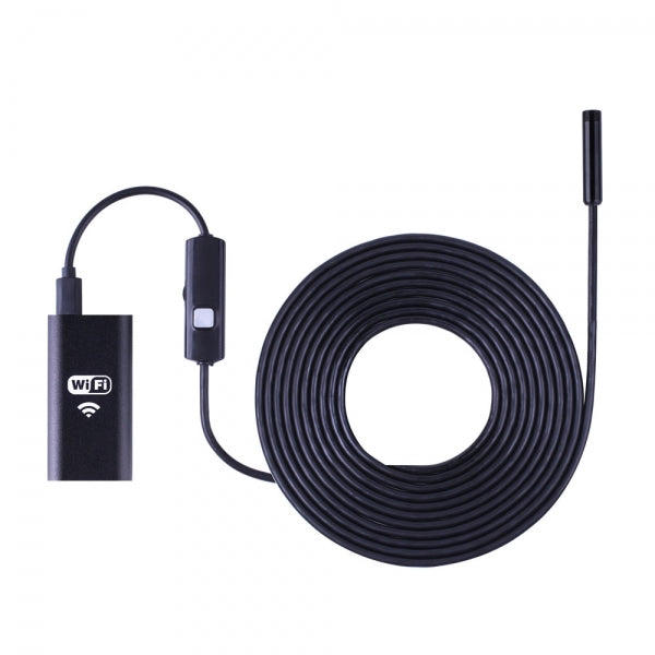 5M Wireless Wi-Fi Waterproof 720P Endoscope Camera Borescope for iOS & Android