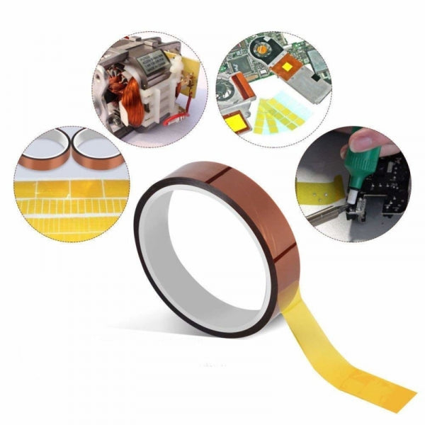 5mm x 30m High Temperature Tape Polyimide High Temperature Resistant Tape for Heat Transfer Vinyl, 3D Printing, Soldering, Masking