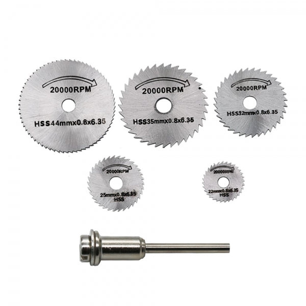 5pcs Saw Blade + 3.2mm Rod High Speed Steel Cutting Set