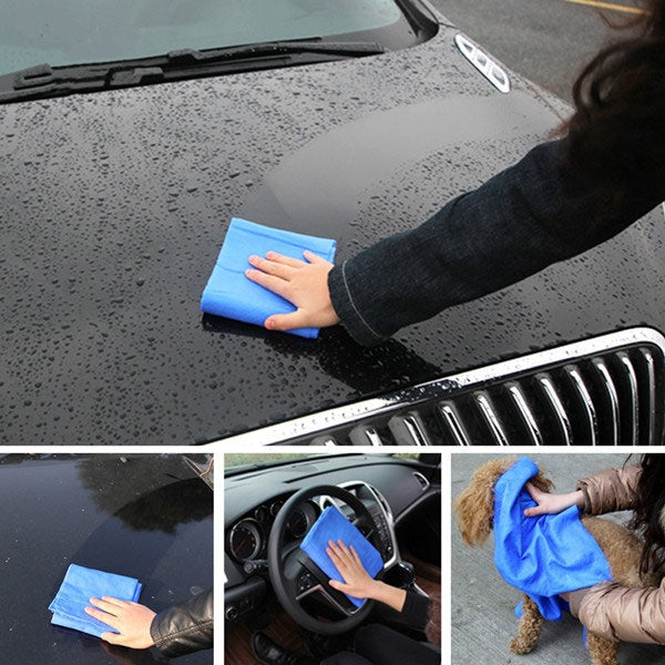 Multifunctional Super Absorption Microfiber Towel for Car Care Pet Cleaning Random Color L