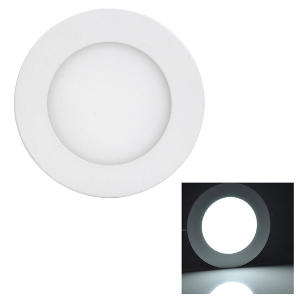6W LED Downlight Ultra Slim Recessed Ceiling Panel Lights Round - White