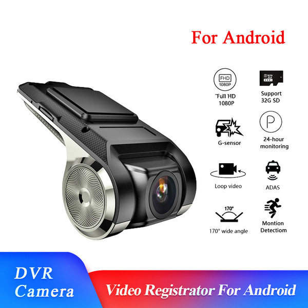 [Deals]Android Multimedia Player with ADAS Car Dvr Camera FHD 1080P Auto Digital Video Driving Recorder Dashcam Camera