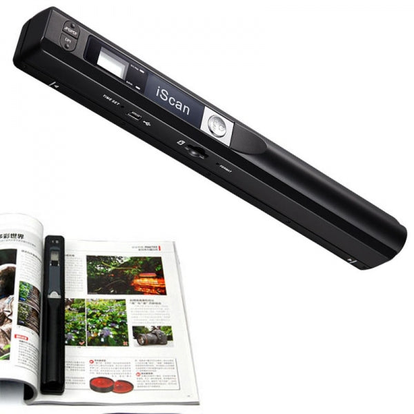 900DPI iScan Mini Portable Scanner Wireless HD Hand Held Scanner Black