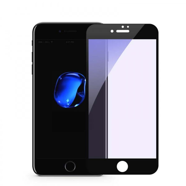 3D Full Cover Anti Blue Ray Film Screen Protector for iPhone 7/8 Black
