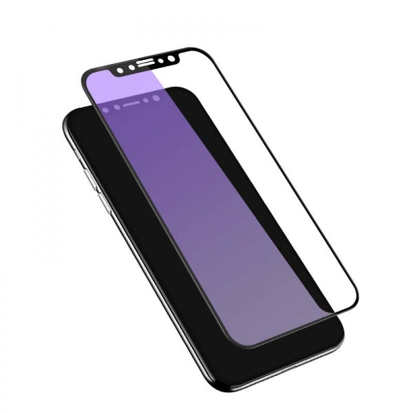 3D Full Cover Anti Blue Ray Screen Protector for iPhone X 9H Tempered Glass Black