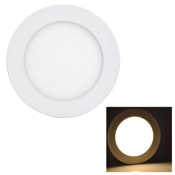 9W LED Recessed Ceiling Panel Lights Ultra Slim Downlight Round - Warm White