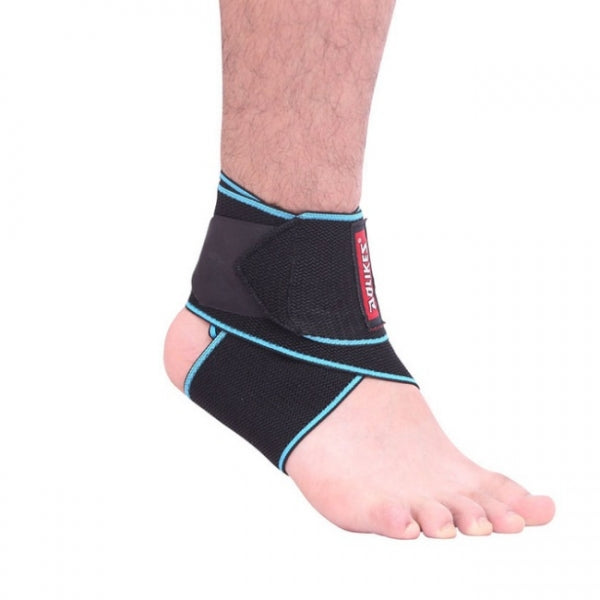 AOLIKES Professional  Adjustable Silicone Ankle Support Strap - Blue