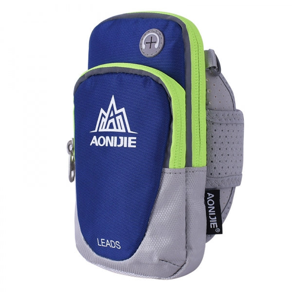 AONIJIE Outdoor Waterproof Sports Gym Running Armband Bag Phone Case for Cellphone Under 5.5inch Dark Blue