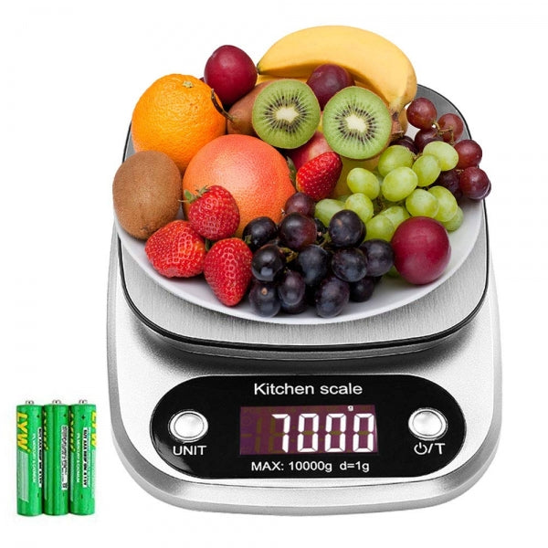 Accurate Digital Kitchen Scale LCD Display Food Scale Gram Electronic Baking & Cooking Weighing with Multifunction - 3kg/0.1g
