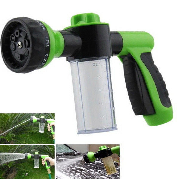 Adjustable Multifunction Foam Hose Nozzle Sprayer for Garden Watering Car Washing & More