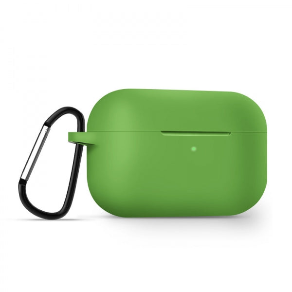 AirPods Pro Case Soft Silicone Protective AirPods Accessories Cover Front LED Visible Compatible with AirPods Pro Wireless Charging Case Green