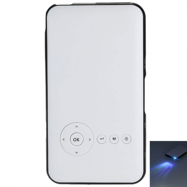 Android 4.4.2 DLP LED Projector + Smart TV Box XBMC 1GB / 8GB 2-in-1 Mini Projector White