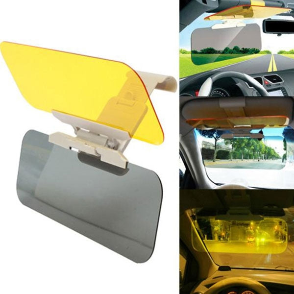 Anti-Glare Dazzling Goggle Day & Night HD Vision Car Visor Driving Mirror Sun Visor Yellow & Transparent Gray