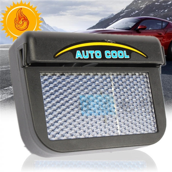 Auto Cool Solar Powered Car Air Vent with Rubber Stripping Car Ventilation Fan Black