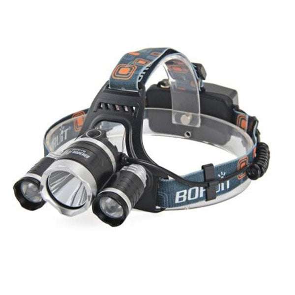 3 LED Waterproof Headlamp Charging RJ-5000 5000lm 4-Mode - Black