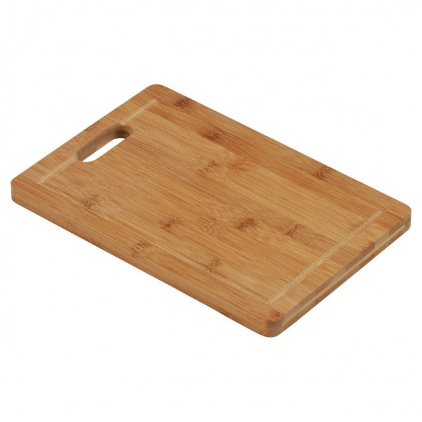 Bamboo Worktop Food Chopping Board with Handle for Home Kitchen