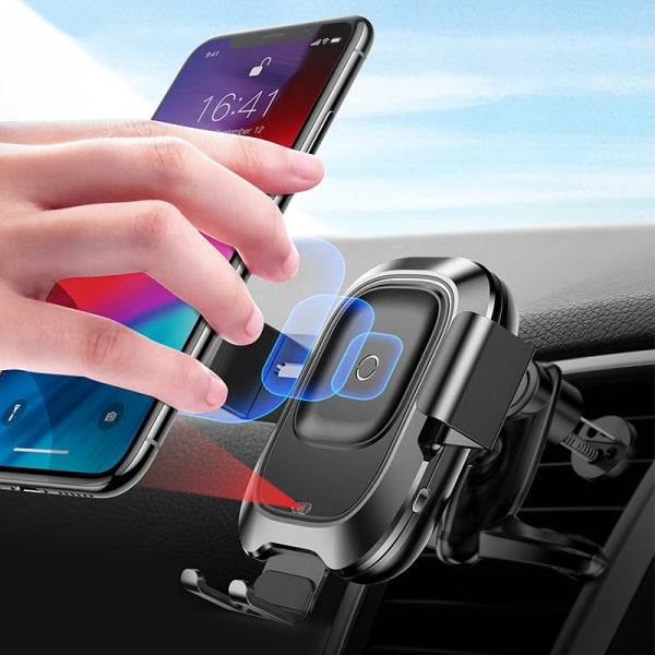 Qi Fast Wireless Charger Car Phone Holder For iPhone / Samsung Galaxy - Air Vent Type