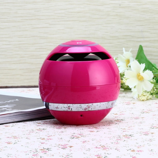 Mini Wireless Bluetooth 2.1 Speaker Micro SD Card FM Hands-free Rose Red