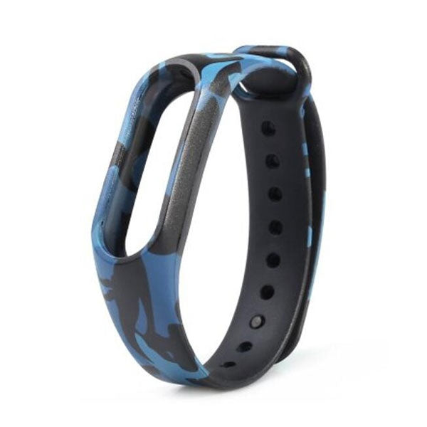 Camouflage Pattern Replacement Watch Strap for Xiaomi Mi Band 2 Camouflage Blue