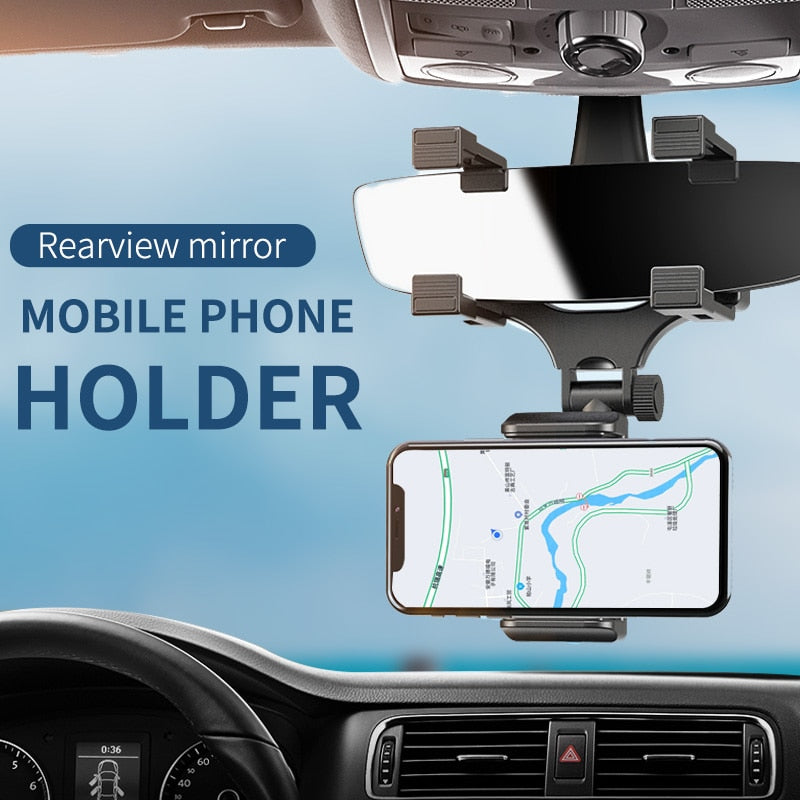 Car DVR/Phone Holders Navigation Head Up Bracket Universal Adjustable Auto Rearview Mirror Mount Cell Phone Holder Bracket Dash Cam Fixing Stands