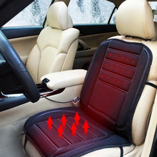 Car Heated Seat Cushion Warmer Cover Winter Car Electric Heating Pad 12V DC & Black