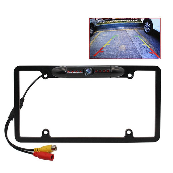 Car Iron Frame Camera Rearview Camera Long License Plate Camera Foreign American Car Dedicated Camera