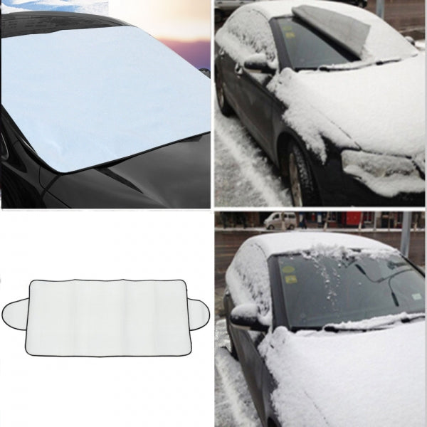 Car Sunlight Snow Cover Aluminium Film Summer Winter Windshield Sunlight Snow Ice Shield Mat Fits Most Cars SUVs Minivans