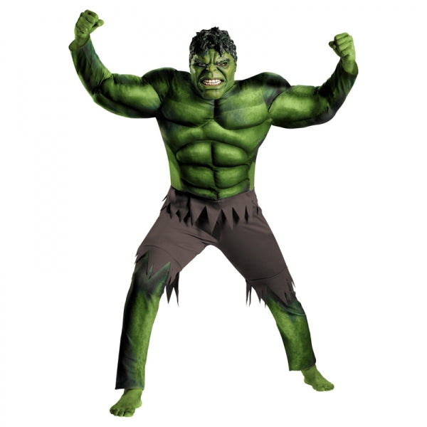 Green Hulk Muscle Cosplay Costume Clothing for Children Halloween Green S