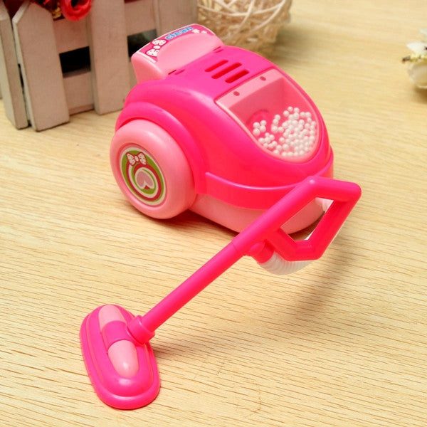 Children Mini Toy Vacuum Cleaner Bubble Dust Collector Remover Toy Pink