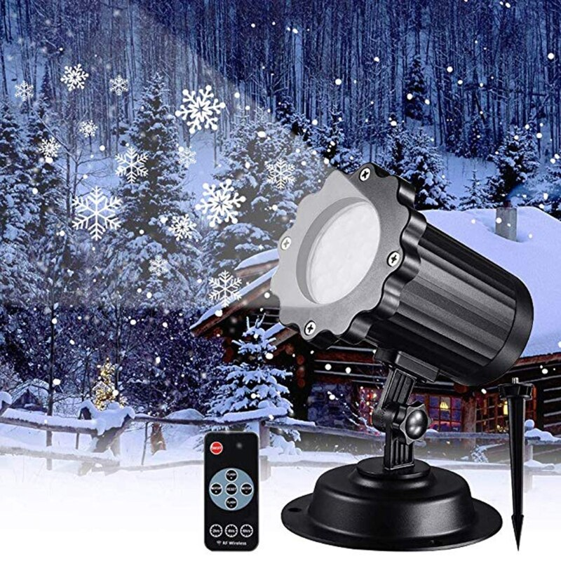 Christmas Snowflake -Laser Light Snowfall Projector Moving Snow Garden Projector R9CB