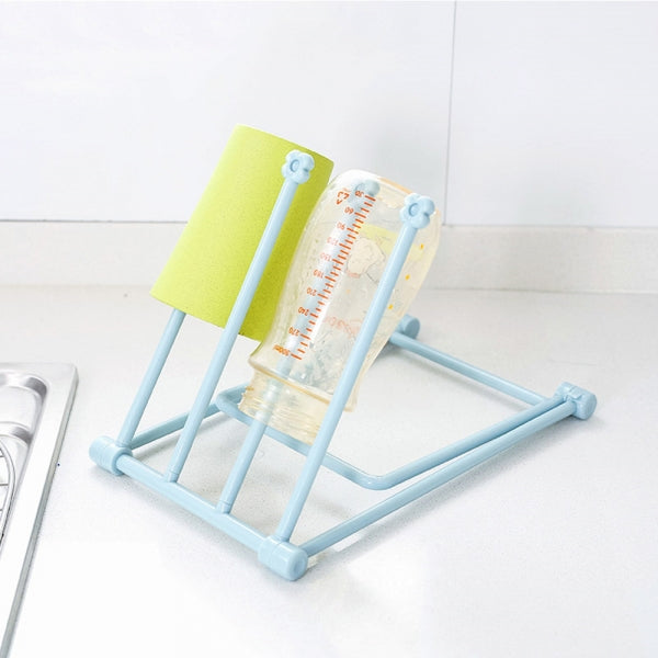 Foldable Kitchen Storage Rack/Towel Rag Drain Rack/Desktop Hanging Rack Blue