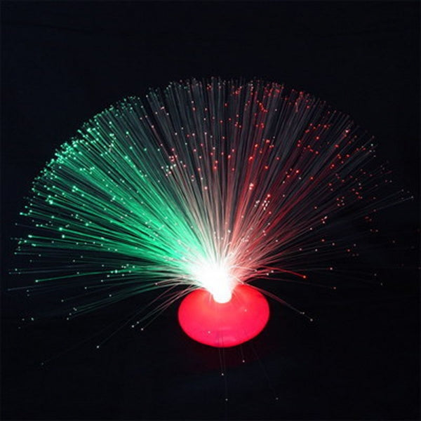 Color Changing Fiber Optic Nightlight Lamp Stand Random Color