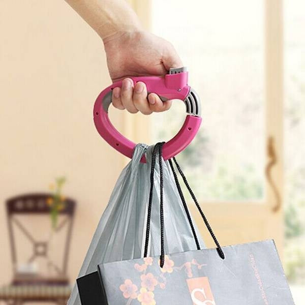 Labor-Saving Self-Locking D-Shaped Grocery Bag holder Random Color