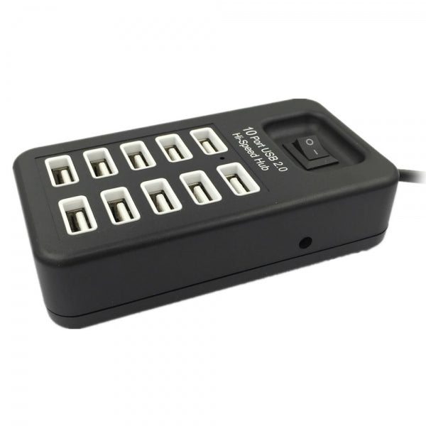 Cwxuan High Speed 10 Ports USB 2.0 HUB Black (95cm)
