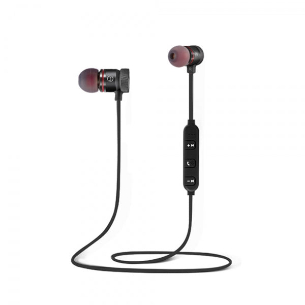 Cwxuan Sports Magnetic Bluetooth V4.1 Stereo Earphone with Microphone for Cell Phones -  Black