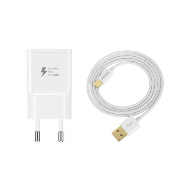 Cwxuan USB 5V/9V/Self-Adaptive Fast Charger & 3.1 Type C Data Cable White