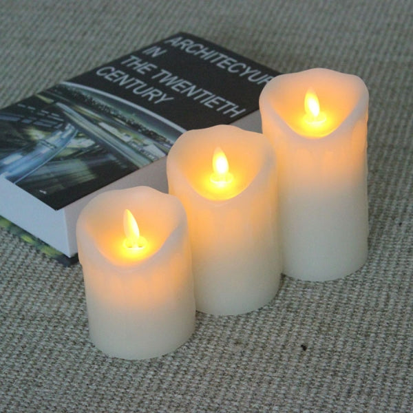 Flameless Flickering LED Candle Light Garden Yard Decor 7.5*12.5cm Christmas Ornament