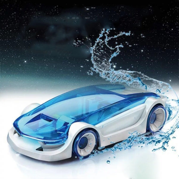 DIY Green Energy Educational Salt Water Fuel Power Car Toy for Kids Blue & Black