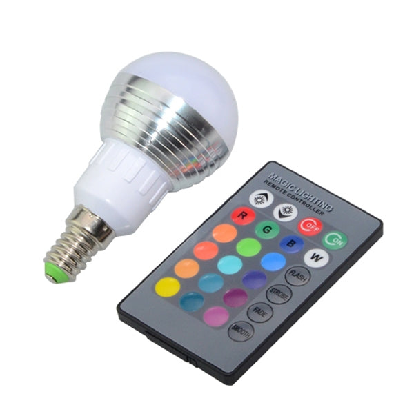 E14 3W RGB Dimmable LED 16 Colors Magic Light Bulb Remote Control