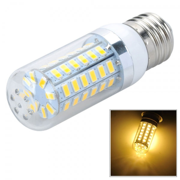 E27 12W 820LM 3500K 56-SMD 5730 LED Corn Lamp Bulb 110V Warm White Light