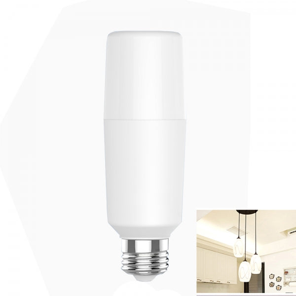 E27 15W 6500K High Brightness Cylinder Light White Light