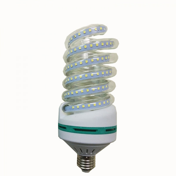 E27 30W SMD 2835 Spiral Shape LED Corn Light Bulb - Warm White