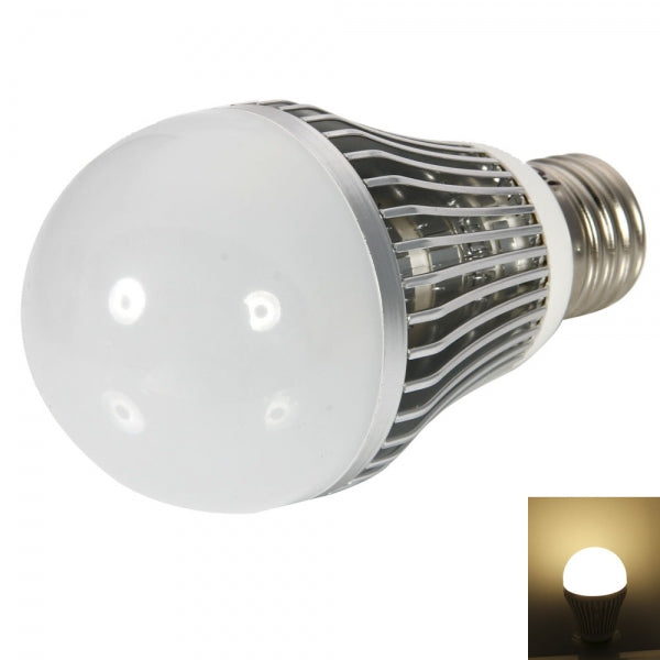 E27 5W 400-450LM 2800-3200K Warm White Light LED Lamp Bulb Silver (12V)