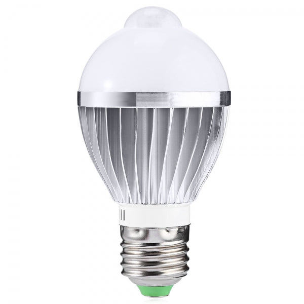 E27 5W 650LM Warm White Human Body and Infrared Sensor Lights LED Bulb (AC 85-265V)